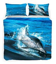 Set Copripiumino Matrimoniale Discovery Ocean Blu Delfino Animal Planet Caleffi