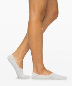 Lululemon Women's No Show Secret Sock  Color Alpine White Size S/M M/L 3 Pack