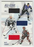 2002-03 BAP Memorabilia All-Star Triple Jerseys #ASTJ20 Mats Sundin