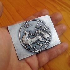 1971 Bronze Silver Medal Horse Hunter Dog Deer Falcon Trophy World Expo Hungary
