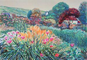 Rolf RAFFLEWSKI : Jardins de Giverny (2) LITHOGRAPHIE originale signée, 600ex