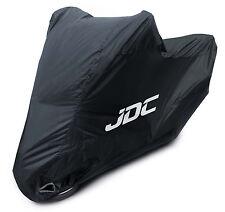 JDC Waterproof Motorcycle Cover Motorbike Breathable Vented Black - RAIN - XXL
