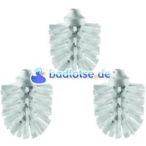 WC-Ersatz-Bürstenkopf Ersatzbürstenkopf Bürste weiß 3 stk passend zu SMEDBO H233