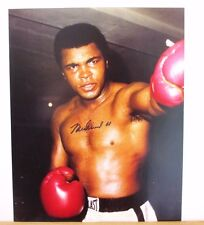 Muhammad Ali 8x10 Autographed Color Photograph Cassius Clay Boxing Champion