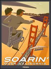 Anaheim California Adventure Disneyland Soar  U.S. Travel Advertisement Poster