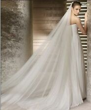 "118"" long,118"" wide Ivory 1 Layer Cut Edge Wedding Veil with comb Bridal Veils"