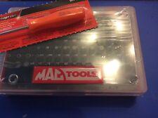 Mac Tools. 100 Bits Set. 1/4 Drive  TORX Hex With SNAP ON Mini Screwdriver New