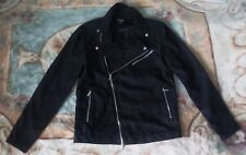 Brand New Pull & Bear Black Soft Touch Biker Jacket, Size M