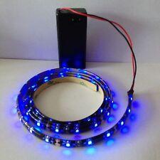 Poste telescópico Bandera Azul LED Luz Tira Impermeable 1000mm funciona con batería de 9V.