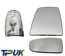 FORD TRANSIT MK8 FRONT LEFT SIDE MIRROR GLASS CLEAR INDICATOR LENS + COVER SET