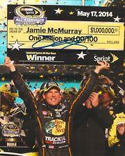 JAMIE MCMURRAY signed NASCAR 8X10 ALL STAR RACE CHECK photo w/ COA