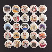 "Kingdom of Tigers 1"" Button Pin Lot Whole Set Cute Kitten Kitty Cats 25 Pins"