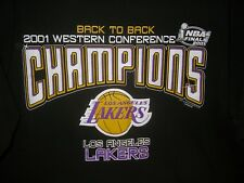 la/LOS ANGELES LAKERS T SHIRT Back to Back 2001 Western Conference Champions XL