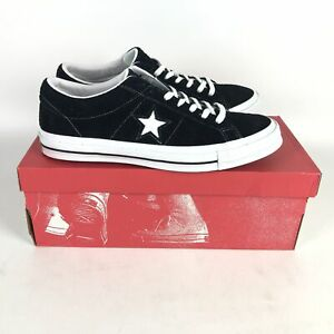 Converse One Star Ox Skate Shoes Men Size 11 Black/White 158369C