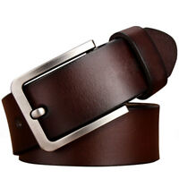 """Mens Belt Genuine Leather Belts For Dress & Jeans Big & Tall Wasit Size 28""""-64"""""""