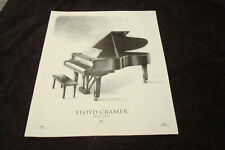 FLOYD CRAMER 1933-1997 tribute ad American Hall of Fame pianist, Nashville sound