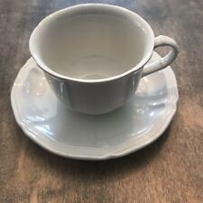 Villeroy and Boch Manoir Coffee Cup Teacup Saucer France anno 1748 White 7 oz