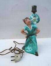 Lampe Peter Pan et Clochette Walt Disney 24 Cm en Ceramique 1950