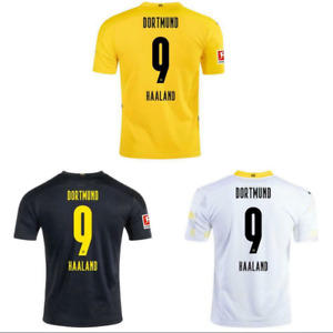 #9 Haaland Dortmund 20/21 Home Away Third Football Soccer Jersey Men's Shirt