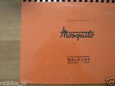 M0503 MOSQUITO---INSTRUCTIE BOEK MOSQUITO----MODEL