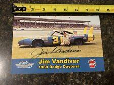 NASCAR Signed Jim Vandiver Postcard – 25 cards ship for $9