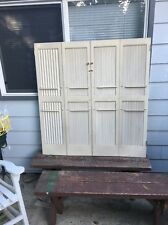 "1-Sets Vintage Interior Wood Window Shutters Louvered Plantation 46"" x 44"" Total"