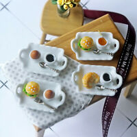 1/12 Dollhouse Miniature Food Breakfast Tray Mini Kitchen Pretend Play T JR