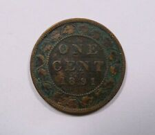 Canada Queen Victoria Large One Cent 1891 SD LL RARE