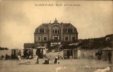 Loon Plage France CPA ~1910/20 Vue du Casino Strandpartie Personen Strandhaus