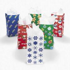 24 HOLIDAY CHRISTMAS PAPER GIFT BAG ASSORTMENT ~HUGE LOT NEW~ NICE