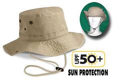 Chapeau de Randonnée Traité contre le Soleil ANTI UV en Coton Lourd délavé