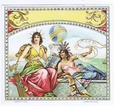 Pax et Justitia, original outer cigar box label, woman
