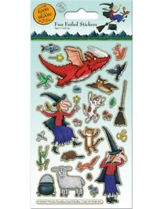 ROOM ON THE BROOM Fun Foiled Stickers sheet Official Product over 20 Stickers