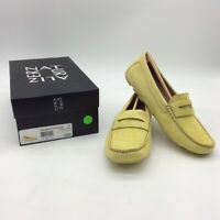 Naturalizer Womens Natasha Driving Penny Loafer Shoes Yellow Slip Ons 6 W New