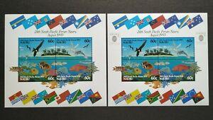 1993 Australia Nauru Birds Fish Corals Flags MS + Overprint Singapore Exhibition