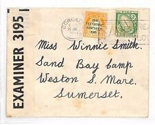 AJ259 1941 eire WW2 censuré en liège pour * sable bay camp * go weston-super-mare som
