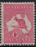 South Australia 1d Kangaroo *ELLISTON* SQUARE CIRCLE CANCEL SA POSTMARK DIE1 ROO
