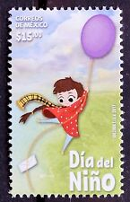 Mexico 2017 Children Day Girl Balloon Sky Green Garden Love Letter Kids Big MNH