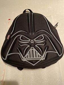 DISNEY~Black & Silver STAR WARS DARTH VADER Plush Small Backpack
