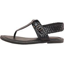 Firetrap Black Leather Toe Post Sandals Size UK 3