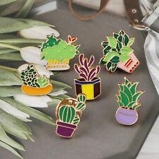 Jackets Lapel Pin Accessories G Cartoon Cactus Brooches Mini Pot Enamel