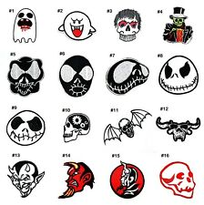 Skull Zombie Skeleton Ghost Satan Halloween Artwork Emblem Clothes Iron on patch
