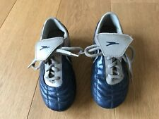 Fußballschuhe Noppen Schuhe Gr. 33 / 34 Feld blau silber