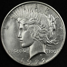 1922-d Peace Silver Dollar.  B.U.  Very Strong Strike for a 1922-d.  (INV.E)