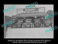 OLD 8x6 HISTORIC PHOTO OF KADINA SA THE SIMPSONS BUICK MOTOR GARAGE c1930