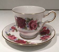 Queen Anne Bone Chine Footed Small Tea Cup And Saucer England Collectible