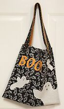 Halloween Boo! Treat Bag Embroidered Lined Shopping Tote