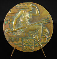 Medal Eamf Mechanics Navy French to M Juzon 1947 Allegorie in the Trident