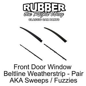 1984 - 1996 Jeep Front Door Window Beltline Weatherstrip Kit Cherokee 2 Door