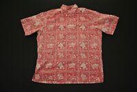 VTG Reyn Spooner Hawaiian Aloha Shirt Red Flag XL